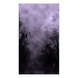 Haunted Sky Purple Mist Double-Sided Standard Business Cards (Pack Of 100)