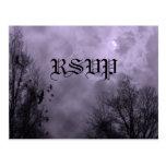 Haunted Sky Purple Mist Custom RSVP Postcard