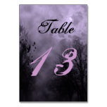 Haunted Sky Purple Mist Custom Table Card