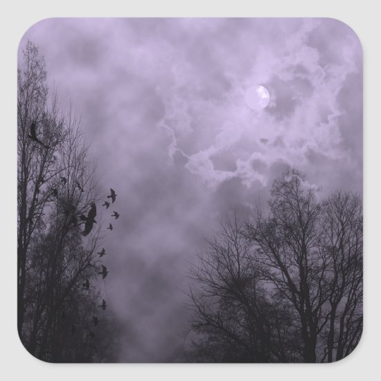 Haunted Sky Purple Mist Halloween Sticker