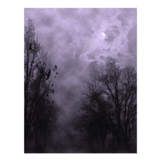 Haunted Sky Purple Mist Letterhead