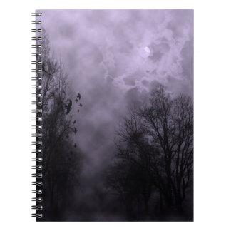 Haunted Sky Purple Mist Notebook