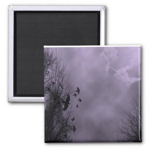 Haunted Sky Purple Mist Refrigerator Magnet