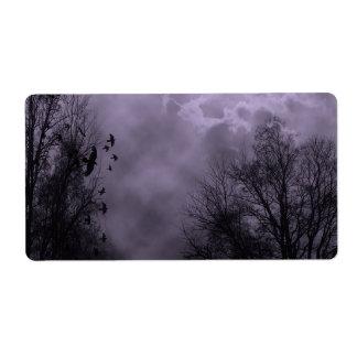 Haunted Sky Purple Mist Shipping Label