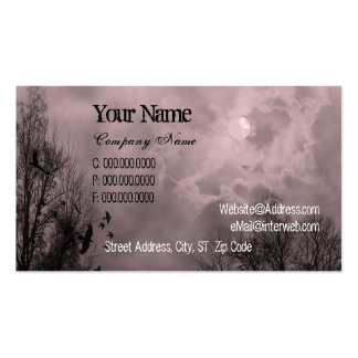 Haunted Sky Red Mist Custom Business Cards