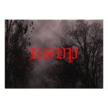 Haunted Sky Red Mist RSVP Card
