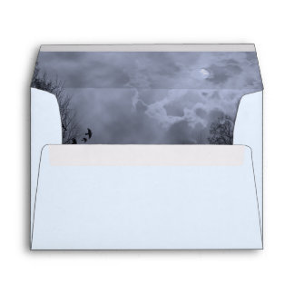 Haunted Sky with Blue Mist Envelopes