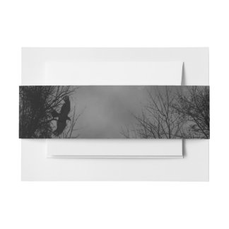 Haunted Sky with Crows Invitation Bands Invitation Belly Band