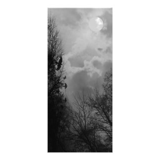 Haunted Sky with Ravens Rack Card Template