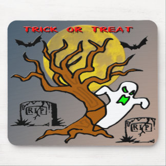 Haunted Tree Ghost Mouse Pad