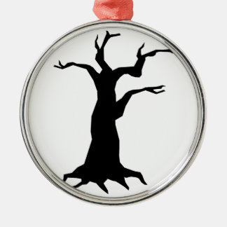 Haunted Tree Metal Ornament