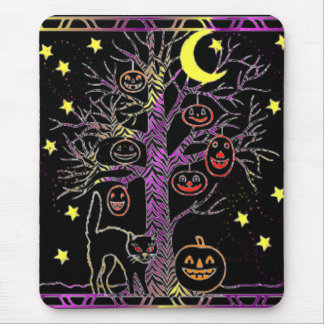 Haunted Tree Mouse Pad