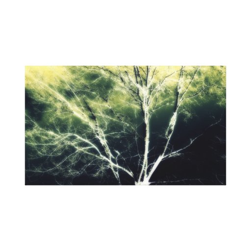 Haunted Tree Stretched Canvas Print