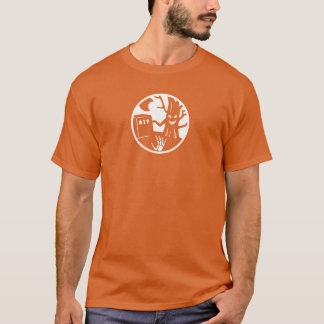 haunted tree with skeleton hand rising T-Shirt