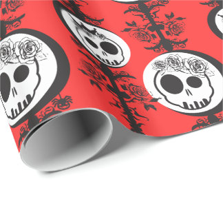 Haunted Wrapping Paper - RED