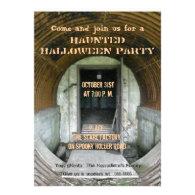 Haunted WWII Bunker Custom Invitation