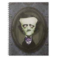 Haunted Zombie Poe Notebook