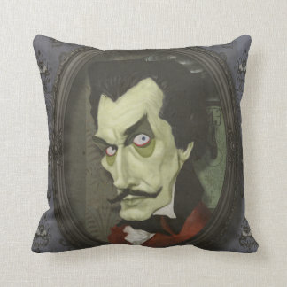 Haunted Zombie Vincent Price Satirical Pillow