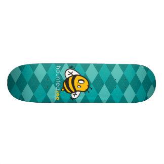 "Haunted Zoo ""Bee Argyle Blue"" Custom Skateboard"