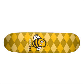 """Haunted Zoo """"Bee Argyle Yellow"""" Skate Board Deck"""