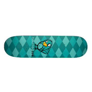 "Haunted Zoo ""Bird Argyle Blue"" Skate Board"