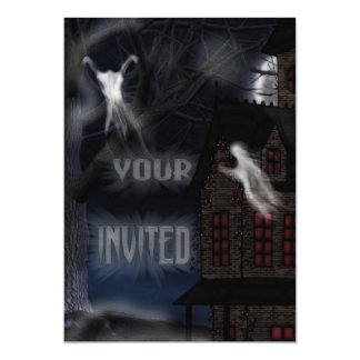 Haunting At Willowstone 5x7 Paper Invitation Card