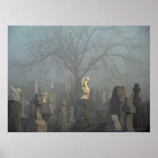 Haunting Blue Fog Poster