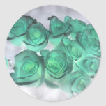 Haunting bouquet of roses tinted green sticker