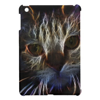 Haunting cat face art, made of light - gothic iPad mini covers