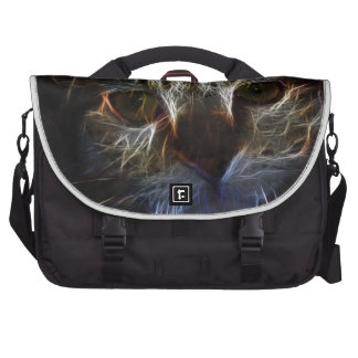 Haunting cat face art, made of light - gothic commuter bag