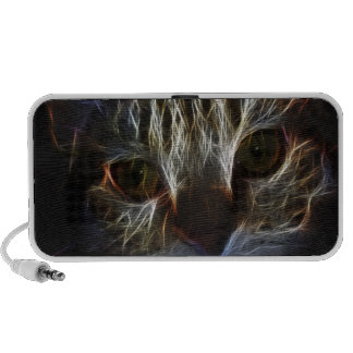 Haunting cat face art, made of light - gothic portable speakers