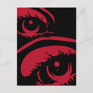 Haunting Eyes Postcard postcard