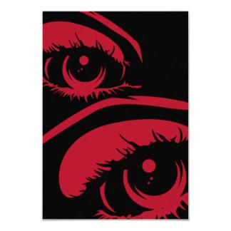 "Haunting Eyes RSVP Card 3.5"" X 5"" Invitation Card"