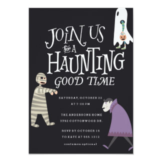HAUNTING GOOD TIME  HALLOWEEN PARTY INVITATION