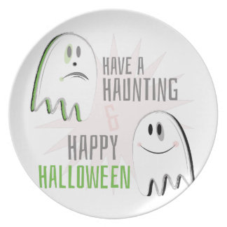 Haunting Halloween Melamine Plate