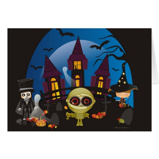 Haunting Halloween Nights Stationery Note Card