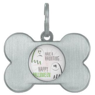 Haunting Halloween Pet Name Tag
