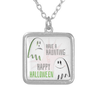 Haunting Halloween Silver Plated Necklace