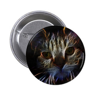 Haunting pet cat face art, made of light - gifts pins