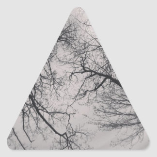 Haunting Trees Triangle Sticker
