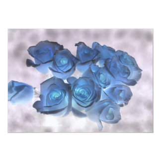 Hauntingly beautiful blue tinged roses card