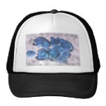 Hauntingly beautiful blue tinged roses mesh hat