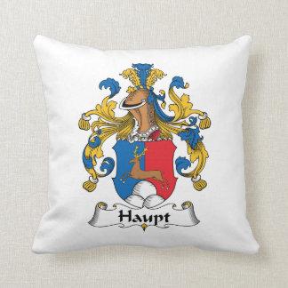 Haupt Family Crest Throw Pillow