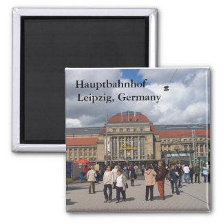 Hauptbahnhof, Leipzig, Germany 2 Inch Square Magnet