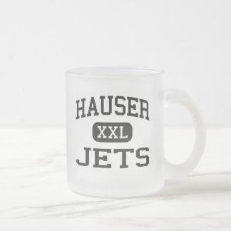 Hauser - Jets - Hauser High School - Hope Indiana 10 Oz Frosted Glass Coffee Mug