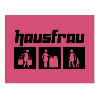 Hausfrau 2 postcard