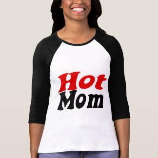 Hausfrau caliente de la mamá playeras