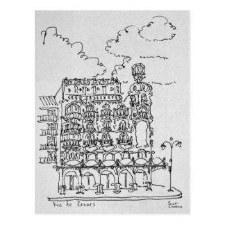 Haussmann Building | Rue de Rennes, Paris Postcard