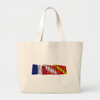 Haut-Rhin, Alsace & France flags Tote Bag