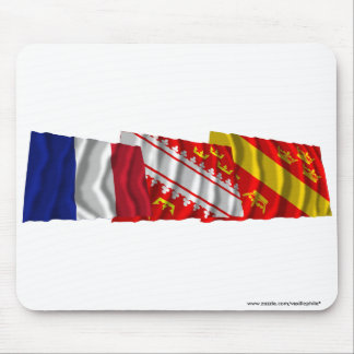 Haut-Rhin, Alsace & France flags Mouse Pads